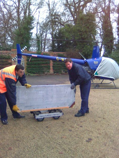 Moving a 4 CWT weight snooker table slate